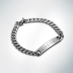 Bracelet Acier inoxydable + Gravure Prénom