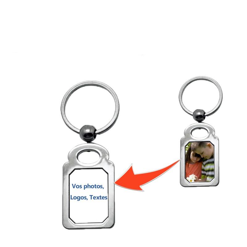Porte clé personnalisé rectangulaire