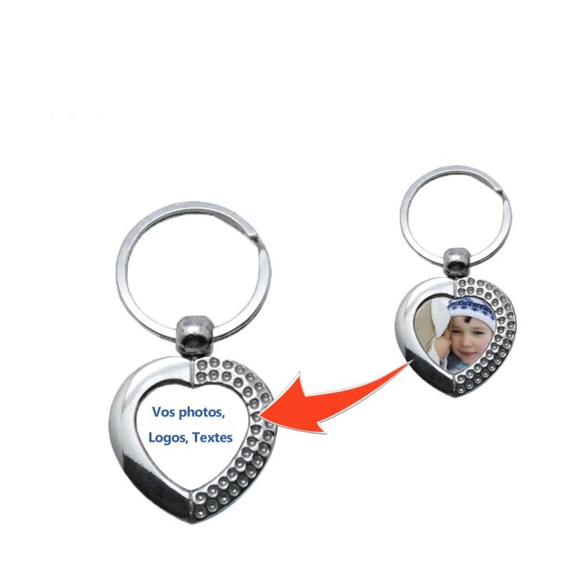 Porte clé personnalisé coeur