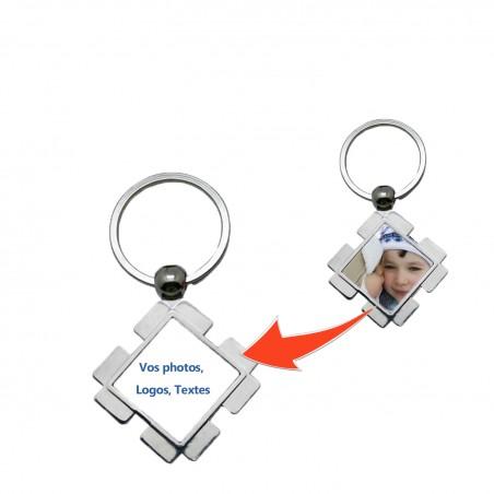 Porte clé carré personnalisé carré