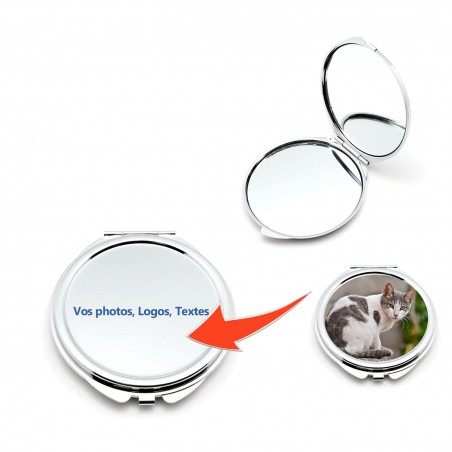 Miroir de poche à personnaliser