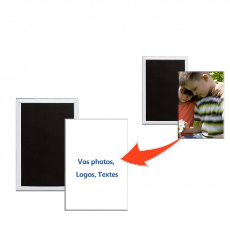 Magnet personnalisé rectangulaire avec photos logos textes